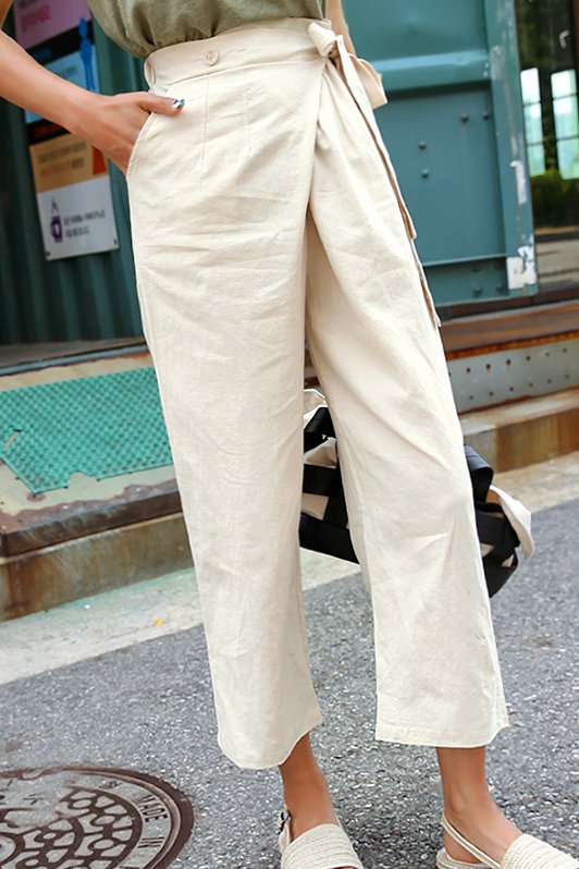 Basic Comma Pants for Sale | Straight for Women | KOODING