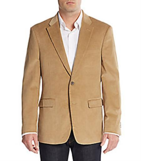 Regular Fit Corduroy Sportcoat Jacket Khaki | Men's Jackets