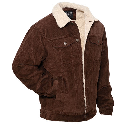 Heartland America: Original Deluxe Men's Coffee Sherpa Corduroy Jacket