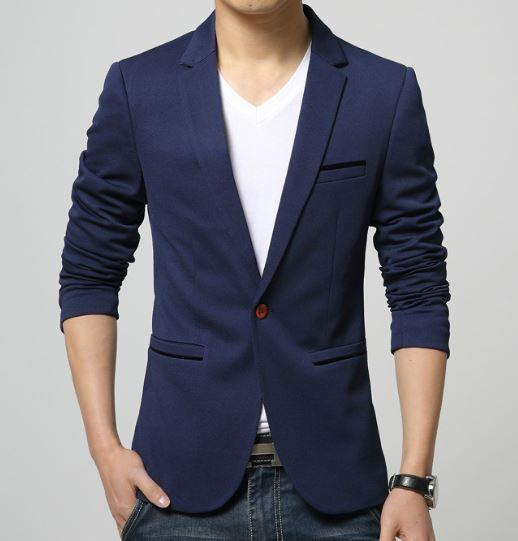 Mens American Slim Fit Fashion Cotton Blazer u2013 All In One Place With Us