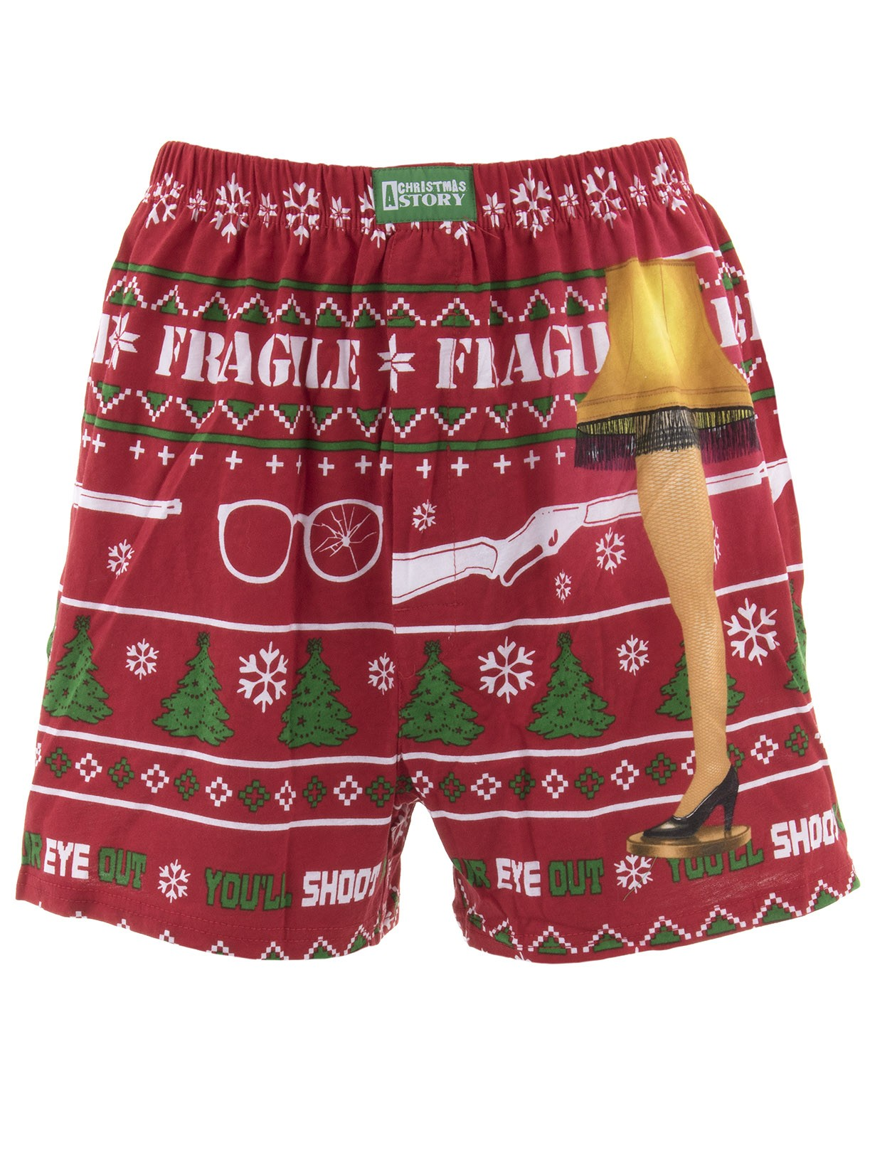 A Christmas Story - A Christmas Story Men's Red Cotton Boxer Shorts