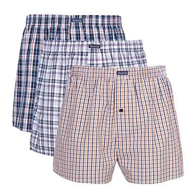 Vanever 3PK Men's Woven Boxers, 100% Cotton Boxer Shorts for Men