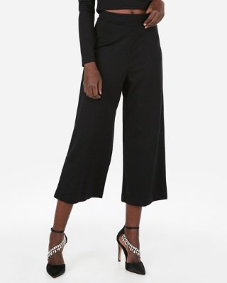 High Waisted Plaid Culotte Pant | Express
