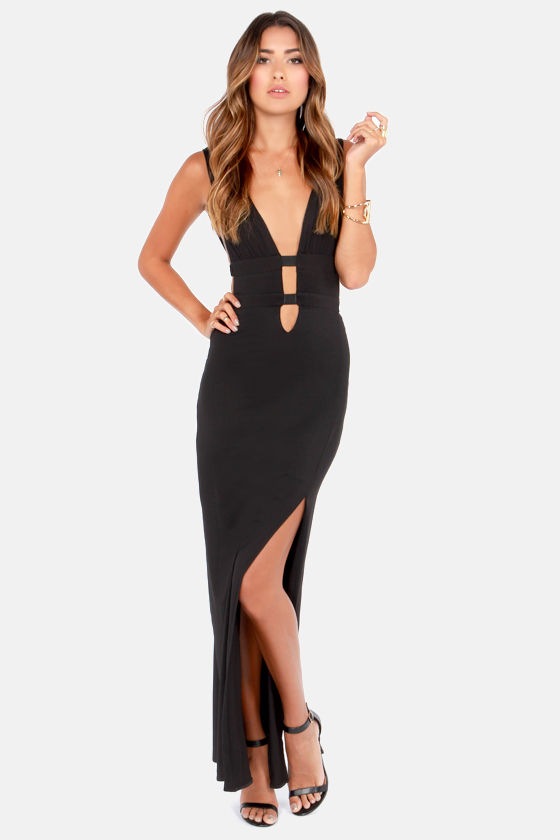 Sexy Black Dress - Maxi Dress - Cutout Dress - $49.00