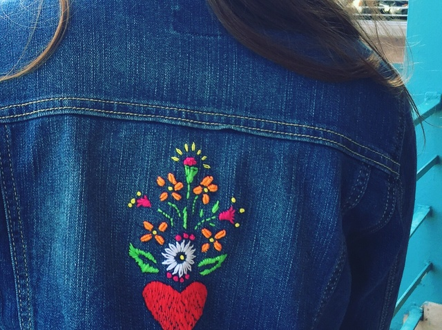 How to Embroider a Basic Denim Jacket With Stencils - Snapguide