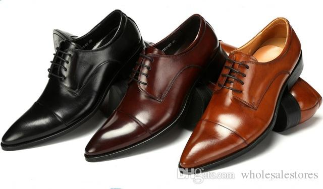 Fashion Black / Brown Tan / Brown Derby Shoes Mens Wedding Shoes