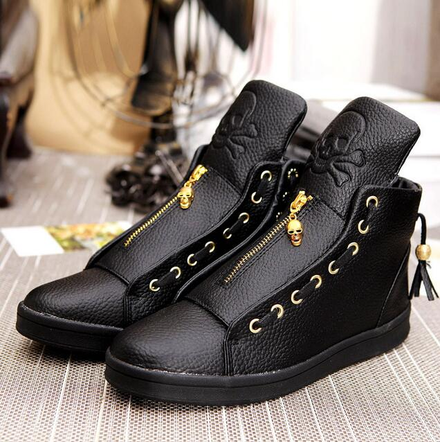 2016 Sales Designer Shoes Men High Quality Hip Hop Shoes Skull Mens