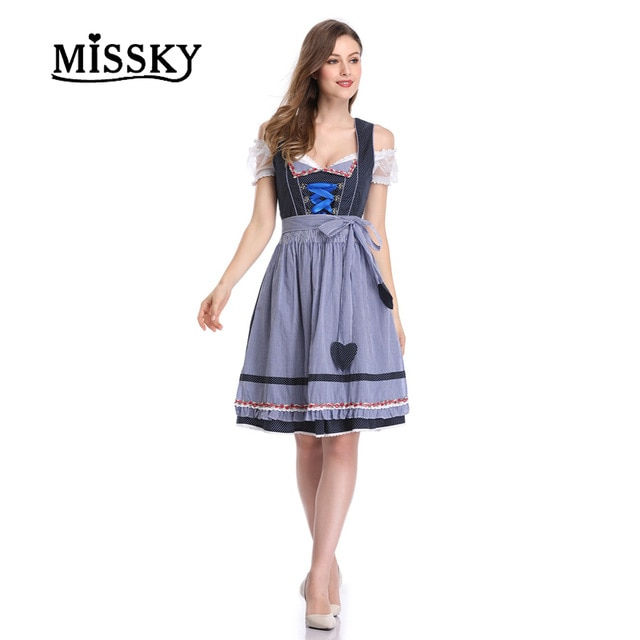 MISSKY Free Shipping Women's 2 Pcs Dirndl Dress Bavarian Beer
