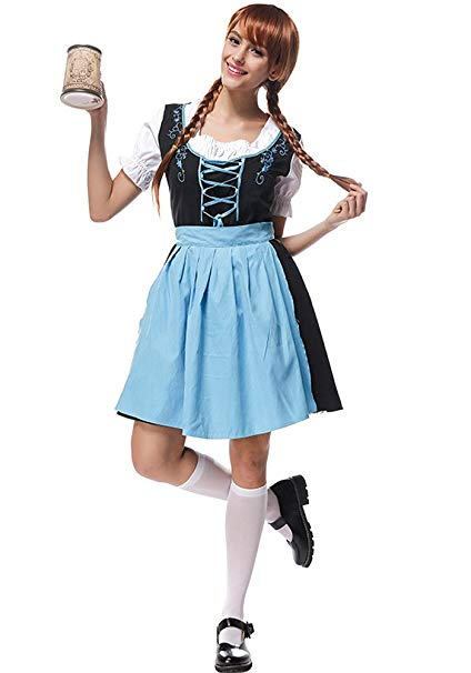 Amazon.com: BOZEVON Women's Dirndl Dress,Fancy Dresses,Waitress Beer