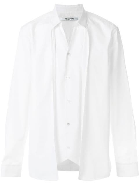 Chalayan double layer shirt $331 - Buy AW17 Online - Fast Global