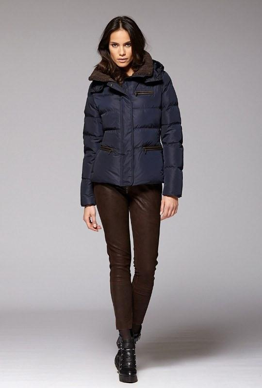 Gimo Women's Short Down Jacket in Navy Gimo Italia - ON SALE