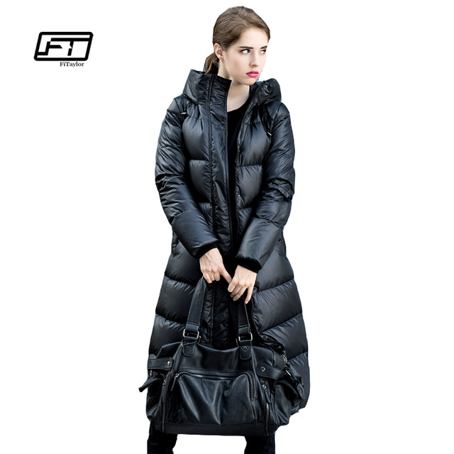 Fitaylor Winter Jackets Women 90% White Duck Down Parkas Down Jacket