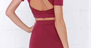 Cut Out Two-Piece Backless Dress   Love Sujeiry