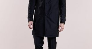 DRYKORN SKOPJE - Trenchcoat - black Men's Lapel collar Coats szsrxDmK