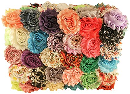 Amazon.com: Chiffon Fabric Flowers for Crafts - Bulk Fabric Flowers