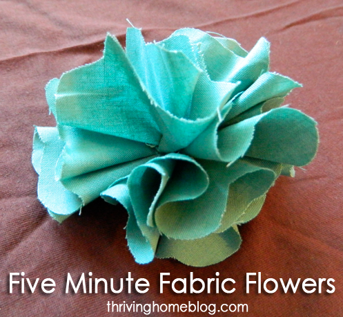 Fabric Flower Tutorial | crafts | Pinterest | Fabric flowers, Easy