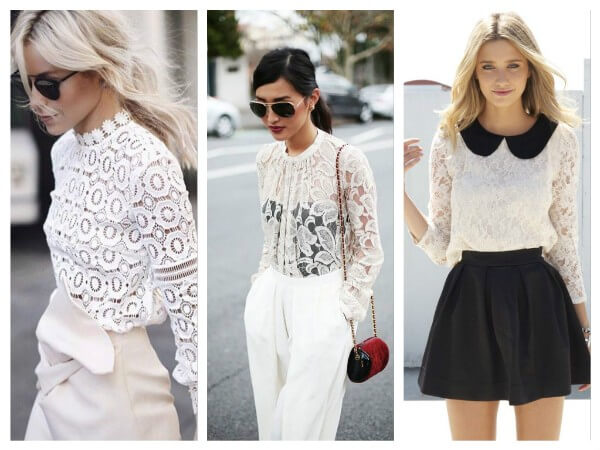 MOST FASHIONABLE BLOUSES IN 2019 Lace Blouses - K4 Fashion