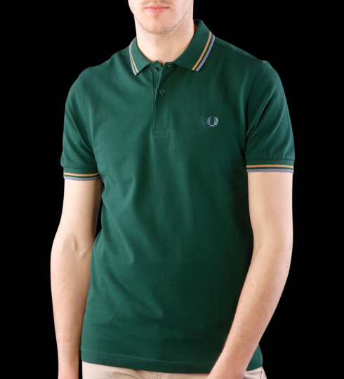 Fred Perry Polo Shirt- Ivy / Gold / Lake