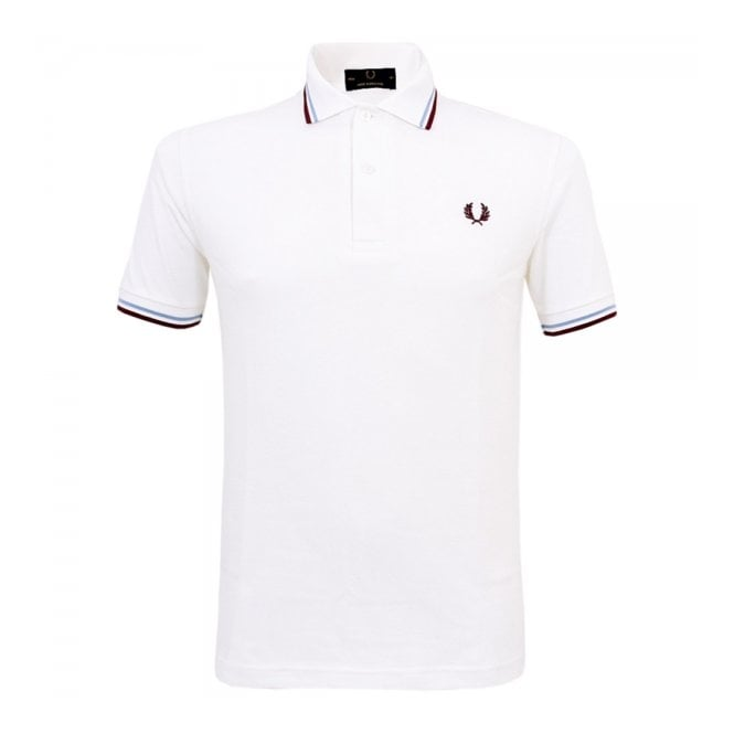 Fred Perry Polo | Twin Tipped White Polo Shirt M12 120