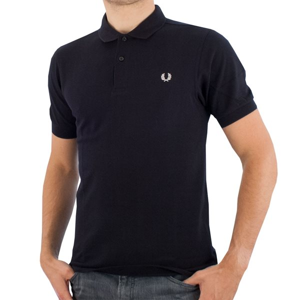 Fred Perry - Slim Fit Plain Polo Shirt - Navy - Sportus - Where