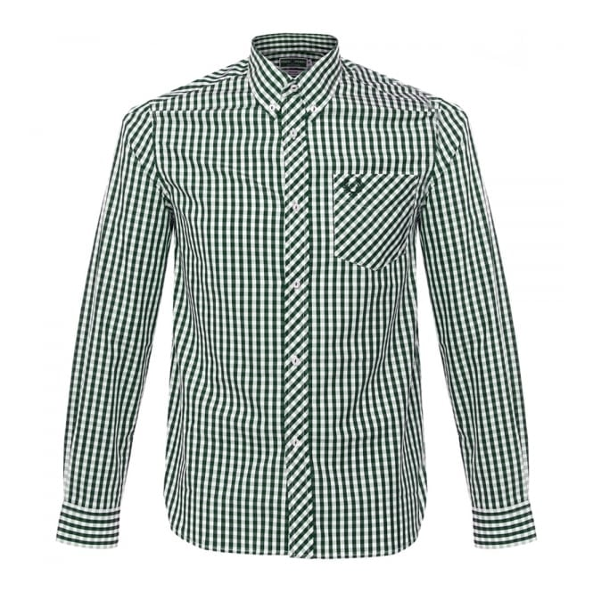 Fred Perry Shop | Reissues Collection Green Gingham Shirt