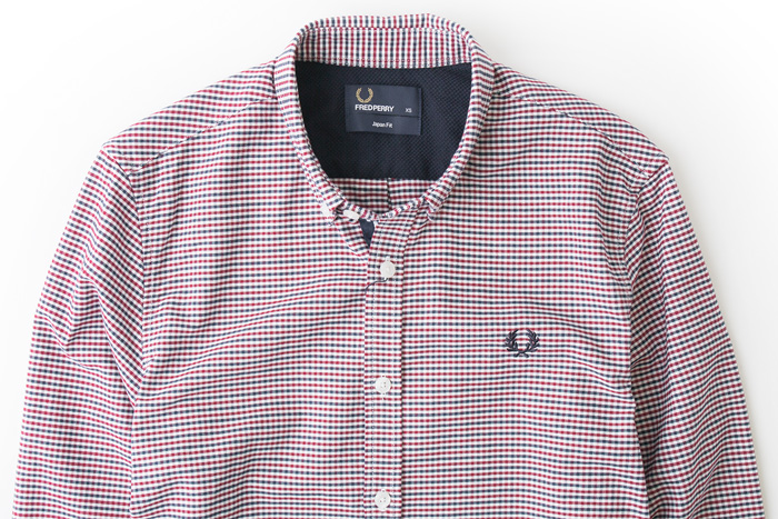 coc: [Fred Perry shirts 3 color Oxford gingham BD shirts FRED PERRY