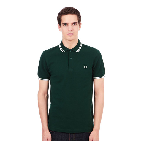 Fred Perry - Twin Tipped Fred Perry Polo Shirt (Ivy / Snow White) | HHV