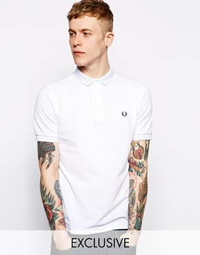 Fred Perry Polo With Polka Dot Small Collar, $113 | Asos | Lookastic.com