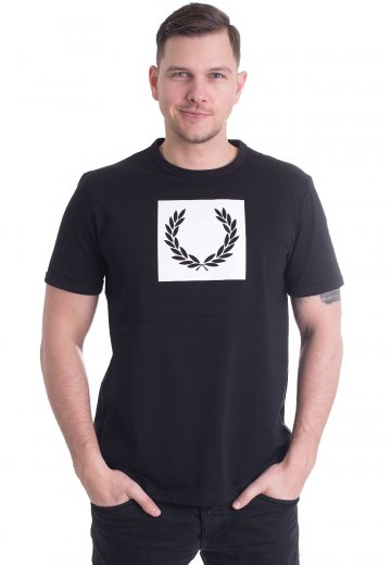 Fred Perry - Printed Laurel Wreath Black - T-Shirt - Streetwear Shop