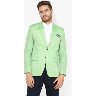 Buy Hangup Men's Green Blazer Online - Get 76% Off