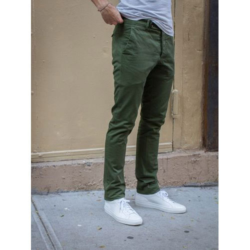 Mens Olive Green Chinos, Chino Pant, चिनो ट्राउजर - SSS