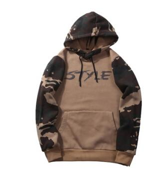 2019 Autumn Winter Men Camo Hoodies Hooded Army Green Camouflage