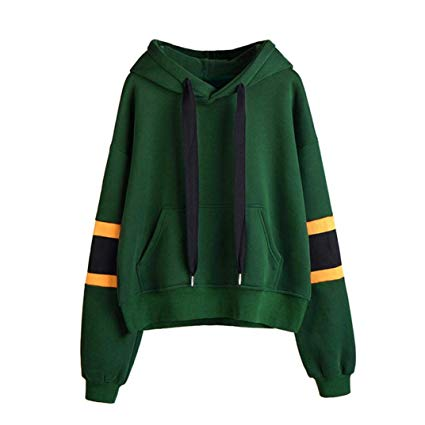 GREEN HOODED PULLOVER