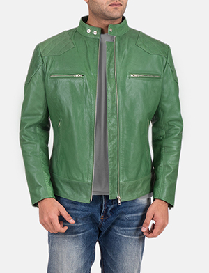Green Leather Jackets For Men - Men's Green Leather Jackets
