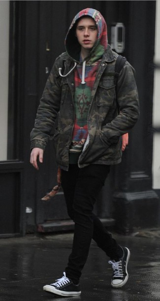 jacket, menswear, mens jacket, brooklyn beckham, camouflage, camo