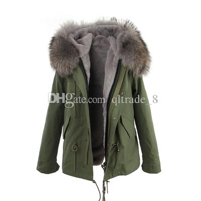 Green Parkas with Fur
