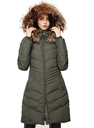 Amazon.com: Escalier Women's Down Jacket Winter Long Parka Coat with