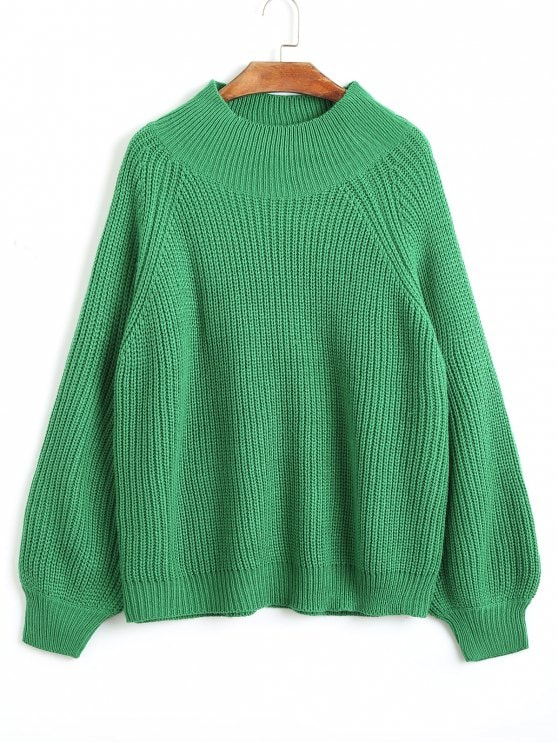 A green sweater for a casual or stylish style of clothing