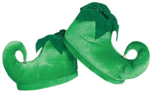 Amazon.com: Rubie's Deluxe Elf Shoes, Green, One Size: Clothing