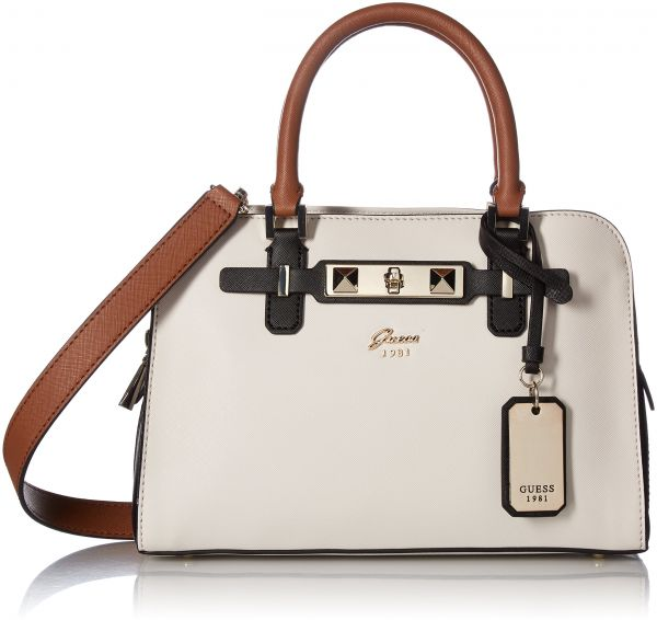 GUESS Cherie Small Girlfriend Satchel, Stone Multi | Souq - UAE
