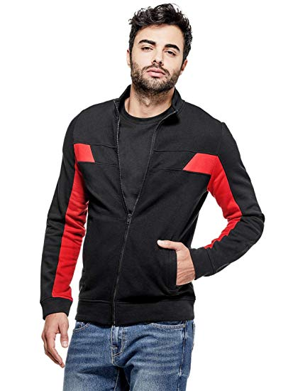 GUESS Factory Men's Timothy Zip-Front Sweater at Amazon Men's