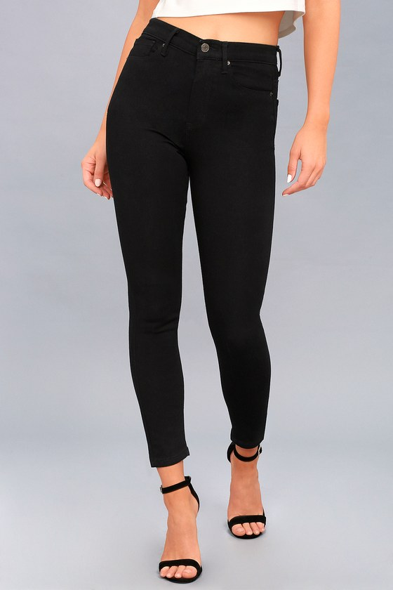Trace Denim Black Skinny Jeans - Black High-Waisted Jeans
