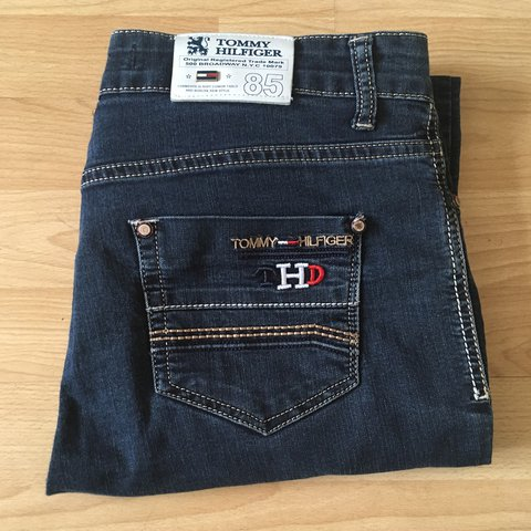 Vintage Tommy Hilfiger denim jeans. Mad quality and loads of - Depop
