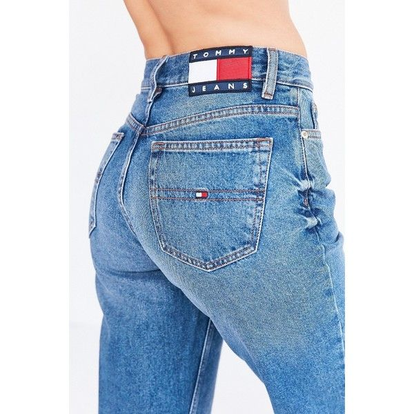 Tommy Jeans For UO '90s Mid-Rise Mom Jean ($139) ❤ liked on