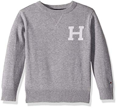 Amazon.com: Tommy Hilfiger Boys' Long Sleeve Crew-Neck Sweater: Clothing