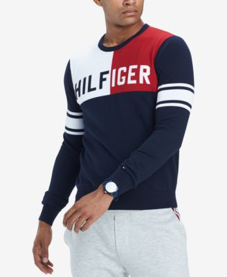 Tommy Hilfiger Men's Bedford Colorblocked Logo Sweater, Created