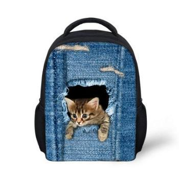 Cute Cat / Dog Print Children Small School Bags u2013 Paw Ho-Ho