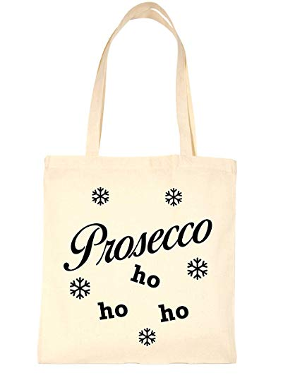 Amazon.com: Print4U Shopping Bag For Life Prosecco Ho Ho Ho