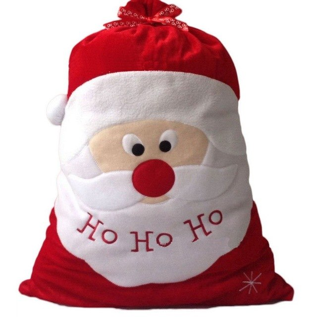 ASLT Christmas Day Decoration Santa Large Sack Stocking Big Gift