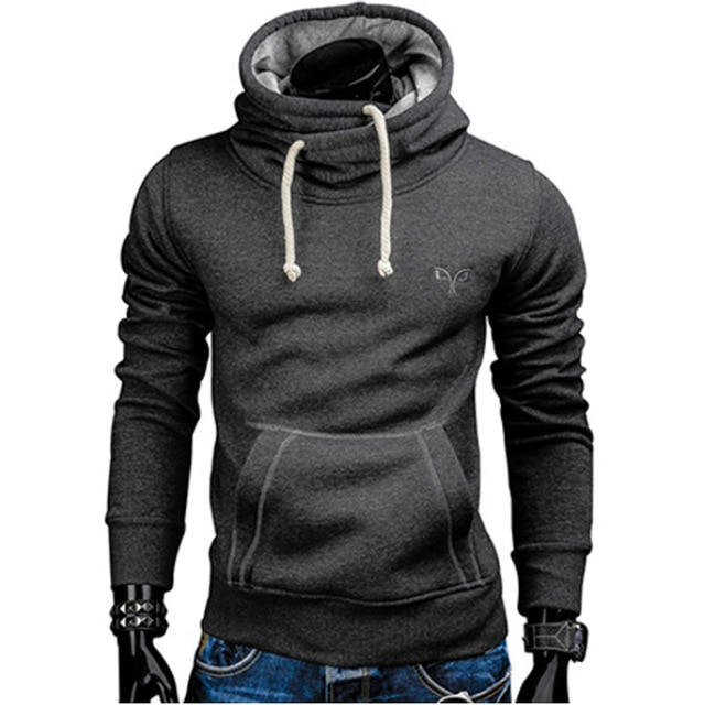 2018 New Spring Autumn Hoodies Men Fashion Brand Pullover Solid